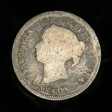 1886 Canada 5 cents silver