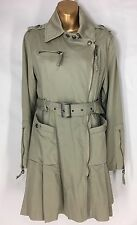 Miss Sixty M60 Military Style Trench Coat Jacket Womens Size Small
