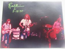 Eagles Band Randy Meisner Signed 11 X 14 Live Concert Capitol Theater Passaic 75