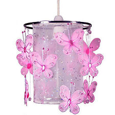 Children Pink Butterfly chandelier Ceiling Pendant Light Shade for kids & Girls