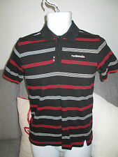 McKENZIE - BLACK/ RED/GREY 100% COTTON S/SLEEVED POLO SHIRT size LB