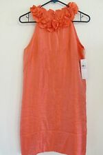 NEW WOMEN'S LONDON TIMES PINK SALMON SHIMMER EVENING EVENT COCKTAIL DRESS SIZE 6