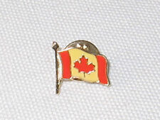 CANADIAN FLAG LAPEL PIN RED MAPLE LEAF FOR HATS BAGS WHATEVER CLOISONNE STYLE