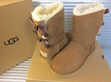 UGG AUSTRALIA WOMEN'S CLASSIC Bailey Bow II CHESTNUT 1016225  AUTHENTIC SIZE 7