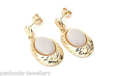 9ct Gold Opal Drop earrings Made in UK Gift Boxed
