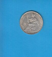§ Indochine Française French Indochina  20 centimes argent 1937 Exemplaire 12