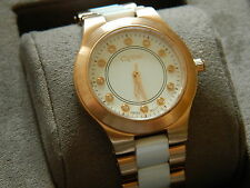 Clogau White Ceramic & Rose Steel Diamond Ladies Wrist Watch RRP £610.00