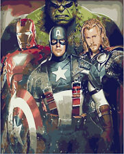 "Painting By Number DIY Digital Oil Painting 16""x20"" Home Decor - The Avengers"