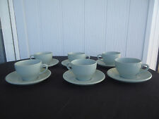 vintage art deco sage green tea set grindley orchid 6 cups and saucers