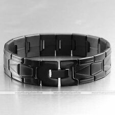 "Punk Men's Stainless Steel Link Chain Bracelet Cuff Classic Wristband Bangle 8""L"