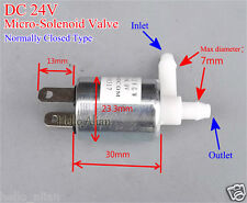 DC 24V Micro Electric Solenoid Exhaust Valve for Air Water Normally Closed Type