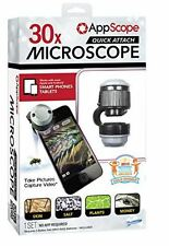 Digital Microscope for Mobile Phones & Tablets AppScope Quick Attach. FREE POST.