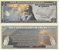 Jesus Christ Serenity Million Prayers Bill Collectable Fun Money Novelty Note