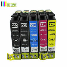 5PC NEW 220 T220XL Ink For Epson XP320 XP420 XP424 WF- 2630 WF2650 WF2660