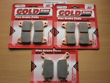 FULL SET OF BRAKE PADS HONDA CBR 600 RR (2005-2006) CBR600RR GOLDFREN CBR600