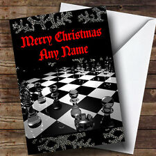 Chess Board Personalised Christmas Greetings Card