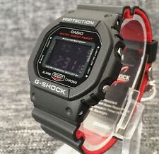 CASIO G SHOCK DW-5600HR-1ER BLACK & RED DIGITAL WR 200M BRAND NEW