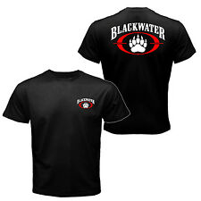 The Blackwater Logo Worldwide Security Private Military Black Water T-shirt Tee