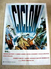 CYCLONE Original Vintage Movie Poster ARTHUR KENNEDY CARROL BAKER OLGA KARLATOS
