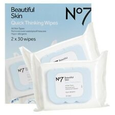 Boots No7 Quick Thinking 4in1 Face Eye Make up Clean Wet Wipes 60 pk.Value Pack