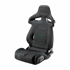 New! Sparco R333 Forza Deep Bolster Reclining Bucket Sports Seat - Black Fabric