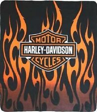 Harley Davidson 50 x 60 Fleece Throw Blanket - Fire