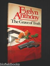 EVELYN ANTHONY: The Grave of Truth, 1979-1st, British Thriller Novel, Fiction