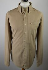 Premium men's Ralph Lauren Polo Jeans Co mid brown striped shirt large XL 48""