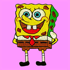 Sponge Bob Square Pants Cartoon Kids Embroidered Jacket Iron On Patch
