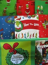 6 yards + 1 panel How the Grinch Stole Christmas Cotton Quilt Fabric Dr. Seuss