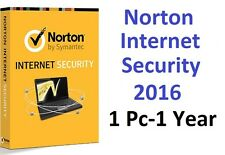 Norton internet security - 2016-1-PC-1 ans-code clé