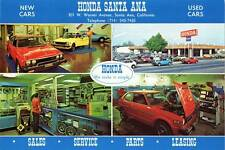 Old Photo. Santa Ana, California. Honda Santa Ana Auto Dealership
