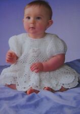 "BABY GIRLS /CROCHET~PINEAPPLE DRESS ~ DK CROCHET PATTERN SIZE 16""-20""(H17)"