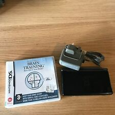 Black Nintendo DS Lite Console PAL Tested Inc Charger & Game - FAST POST