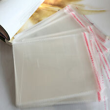 100 x New Resealable Clear Plastic Storage Sleeves For Regular CD Cases LWY