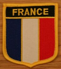 FRANCE French Shield Country Flag Embroidered PATCH Badge P1