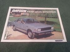 Octubre 1979 DATSUN VIOLETA 140J & 160J Saloon + 160J Coupe-Reino Unido Folleto