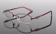 Myopia Red Fashion Women Eyeglass Frames Half Rim Glasses Rx able