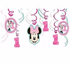 Baby Minnie Mouse Hanging Swirl Decorations First Birthday Party Supplies ~ 1st