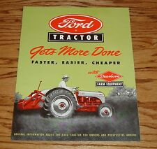 1948-1952 Ford Tractor w Dearborn Farm Equipment Sales Brochure 48 49 50 51 52
