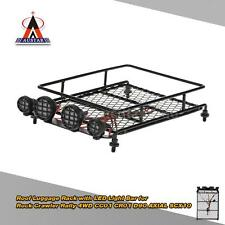 Austar Roof Luggage Rack with LED Light Bar for 1/10 1/8 RC Cars Rock Black Q8W6