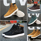 2016 New Mens Fashion Leather Walking Shoe Casual High Top Shoes Canvas Sneakers