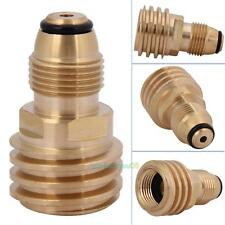 Converts Propane LP TANK POL Service Valve to QCC/ Type-1 Outlet Brass Adapter