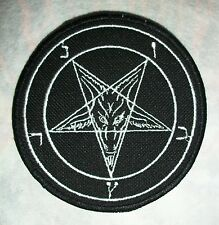 PENTAGRAM BLACK METAL EMBROIDERED PATCH MAYHEM SATANIC WARMASTER BEHEXEN WATAIN