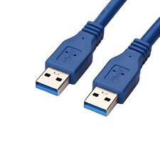 Blue 3FT/1M USB 3.0 Type A Male to Type A Male M/M M2M Extension Cable Cord Wire