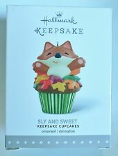 "2016 Hallmark Keepsake Ornament ""Sly and Sweet"" #2 in Cupcakes Series Fox MIB"