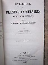 1847 Martial LaMotte Catalogue des Plantes Vasculaires de'l Europe Centrale