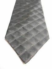 Jones New York Gray and Black Check Silk Necktie
