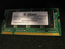 SO DIMM Memory 256 MB  SDRAM ddr 333mhz CL2.5 pc27000S infineon laptop vintage