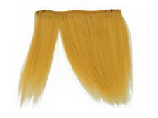 CLIP-IN HUMAN HAIR FRINGE BANGS CYBERLOX MUSTARD YELLOW UNCUT 8""